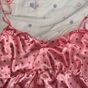 Super cute polyester tank top, lingerie type style